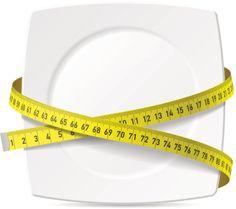 Plate with measuring tape - diet theme - ilustração de arte em vetor