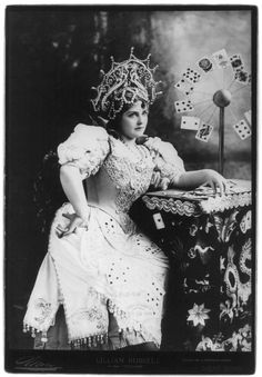 lillian russell as the fortune teller in tzigane - 1895 by augusta
