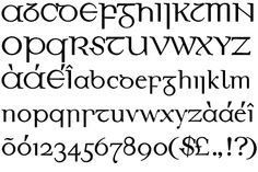 Traditional Irish Gaelic Font | DESIGNER: John Kearney