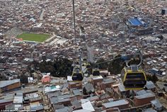 La Paz, Bolivia, a city with some of its highest points topping 12,000 feet, is another mu...
