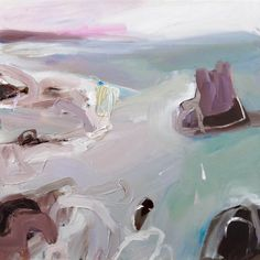 Painting of Cathedral Rocks near Kiama, abstract art, landscape painting