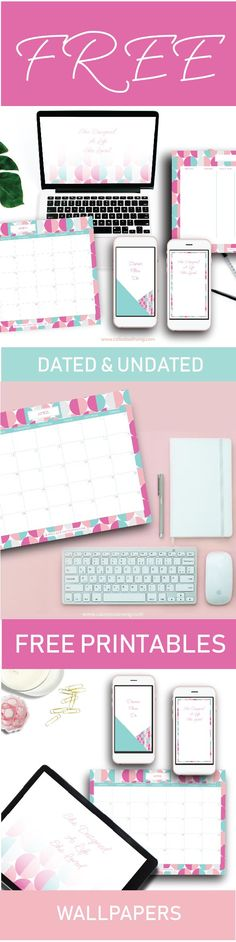 Want to get organised? Got Dreams you wanna make happen?   Download these FREE weekly, monthly planners - dated and undated! Free mobile wallpaper to get you inspired and a desktop wallpaper to boot  www.calledoutliving.com
