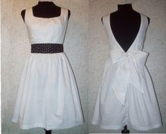 Flirty Dress or Apron Large 1214 white poly by LCsCraftHouse, $38.00