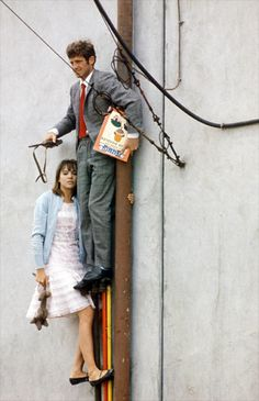 Jean-Paul Belmondo, Anna Karina - Pierrot le fou (Jean-Luc Godard,1965)