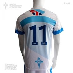 Official t-shirt DEPORTIVO GALICIA LONDON, season 2014/15. Sporty
