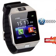 Bluetooth Smart Watch - Upgraded Touch Screen Bluetooth Smart Wrist Watch Smartwatch Phone Support SIM TF Card With Camera Pedometer for iPhone IOS Samsung LG Android Phones (Silver) Iphone Android, Samsung Android Phones, Ios Phone, Android Watch, Iphone Phone, Wrist Watch Phone, Camera Watch, Camera Phone, Remote Camera