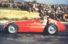 Juan Manuel Fangio in his 1951 Alfa Romeo 159. Fangio won the championship 5 times and is arguably the greatest F1 driver ever