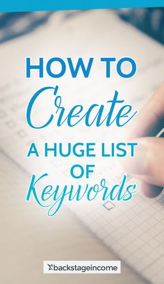How to Generate a Massive List of Keywords: SEO for Beginners Tutorial Here are the tools you could use to create a huge list of keywords! Seo Optimization, Search Engine Optimization, Seo Marketing, Online Marketing, Digital Marketing, Online Advertising, Content Marketing, Affiliate Marketing, Seo Help