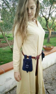 Medieval leather belt bag. Suitable for by LeatherCraft4U on Etsy