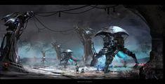 scifi environment, bryant Koshu on ArtStation at https://www.artstation.com/artwork/Bmgq8