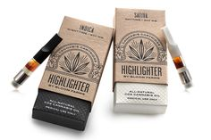 Designed by Pavement, Highlighter is a brand that differentiates and  legitimizes itself from other medical cannabis products with a  sophisticated brand approach and elaborate packaging production.