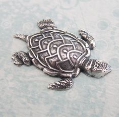 черепаха Silver Turtle Finding 2718 by charmparfait on Etsy