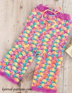 Free crochet leggings pattern for baby