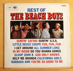 THE BEACH BOYS Best of  UK Mono Vinyl LP - Surfin  USA I get around Sloop John B
