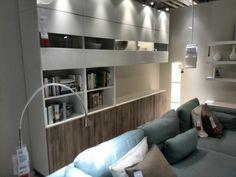 Ikea besta behind couch