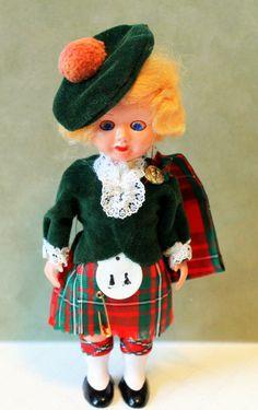Vintage Scottish Highland Lassie Doll  by ACOLLECTORSEMPORIUM