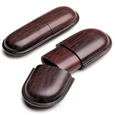 Saddle leather spectacle cases.