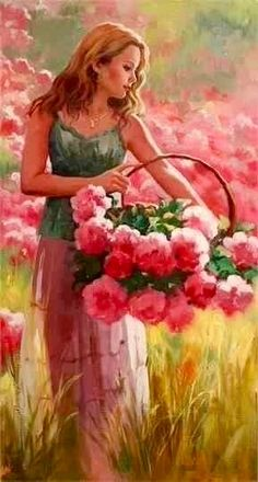 Solve Richard Johnson jigsaw puzzle online with 72 pieces Painting People, Woman Painting, Painting & Drawing, Painted Ladies, Beautiful Paintings, Figurative Art, Female Art, Art Girl, Amazing Art