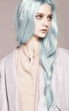 Pastel blue mint hue all over instamatic wella