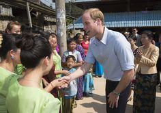 Prince William Visits China: Day 4 - he visits with locals as he takes a tour of Mengman village