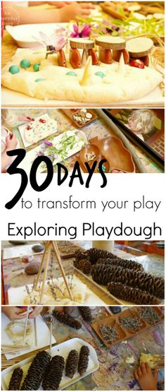 30 Days to Transform Your Play: Tapping into your child's interests to create more meaningful play  Day 7: Exploring Playdough {from An Everyday Story}