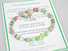 Juvenile Diabetes awareness bracelet