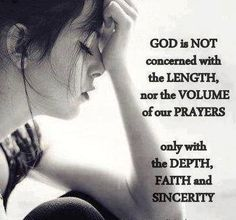 I believe God listens to our heart, not to our mouth...#pray