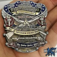 This Defend The Constitution Oath Coin was hand drawn by our artist here at Navy Crow! I took an oath! US Navy Challenge Coins. Military Humor, Military Life, Military Art, Military Challenge Coins, Coin Design, Coast Guard, Us Navy, Marine Corps, Constitution
