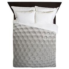 Golf Ball Sport Queen Duvet. #sportsbedding #bedding