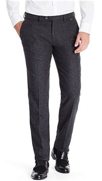 "BOSS Hugo Boss - T-Crigan-W Italian Virgin Wool and Silk Blend Pants: The white flecks in the tweed really win us over. It instantly rev's up your look without getting that feeling of being ""too"" stylish."