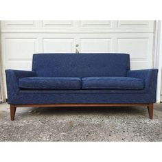 MCM Blue Upholstered Loveseat $750
