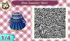 ACNL QR Code: Blue Sweater with Skirt