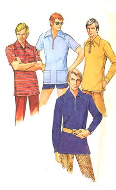 70s Retro Mens Shirt Pattern  McCalls 3068  by treazureddesignz, $5.95