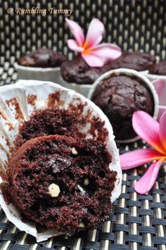 Double Chocolate Muffins Double Chocolate Muffins, White Chocolate Chips, Baker And Cook, Sweet Lady, Muffin Tins, Baking Soda, Cookie Recipes, Singapore, Sweets