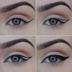 How to Apply Eyeliner. Eyeliner can help make your eyes stand out or look bigger, and it can even change their shape. Even if you've never worn eyeliner before, all it takes is a little practice to take your makeup to the next level! Eyeliner Hacks, Khol Eyeliner, How To Apply Eyeliner, Eyeliner Pencil, Perfect Eyeliner, Cat Eye Eyeliner, Perfect Makeup, Eyeliner Brands, Eyeliner Ideas