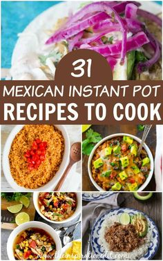 31 Must Try Mexican Instant Pot Recipes Do you have an instant pot and are looking for new recipes? Check out these 31 Mexican inspired instant pot recipes to cook. Instant Pot Cheesecake Recipe, Best Instant Pot Recipe, Instant Pot Dinner Recipes, Instant Recipes, Instant Pot Pressure Cooker, Pressure Cooker Recipes, New Recipes, Cooking Recipes, Ninja Recipes