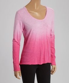 Another great find on #zulily! Pink Ombré Long-Sleeve Top #zulilyfinds