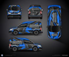 The approved commercial graphics wrap design for Wrapped by Clemens Steger