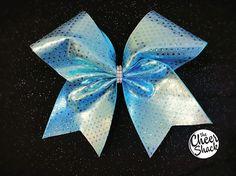 Cheer Bow, Blue Cheer Bow, Cheerleading bow