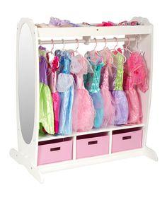 Another great find on #zulily! White Dress-Up Storage Center #zulilyfinds
