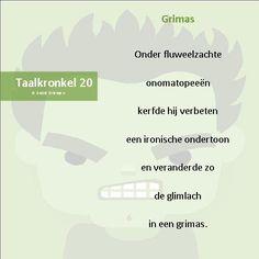 Taalkronkel 20 - Grimas