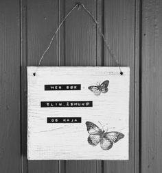 Fragmenter: Enkelt dørskilt - DIY
