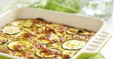 Recette de Gratin de courgettes au fromage blanc fait maison. Facile et rapide à réaliser, goûteuse et diététique.
