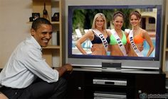 Leanne Marie Cecile Miss Canada, Susie Castillo Miss USA, Marisol Gonzalez Miss Mexico watch live Barack Obama