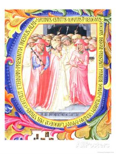 "Historiated Initial ""U"" Depicting Pope Martin V Giclee Print by Bartolomeo Di Frusino at AllPosters.com"