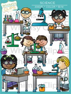 Science Clip Art by WhimsyClipArt on Etsy, $8.50