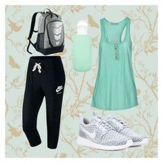 """Workout"" by madisonbelle891011 on Polyvore featuring Timorous Beasties, NIKE, Athletic Vintage and bkr"