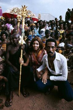 """Ike and Tina Turner - Ghana the filming of """"Soul to Soul"""" Afro, Ike And Tina Turner, Ike Turner, Turner Music, African Royalty, Epic Photos, Black History Facts, African Diaspora, Soul Music"""
