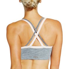 648b5335fe CALIA by Carrie Underwood Women s Inner Power Seamless Double Strap Bra