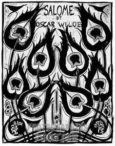 Salome , Cover Design , Aubrey Beardsley design for the play by Oscar Wilde published in Paris in 1892.